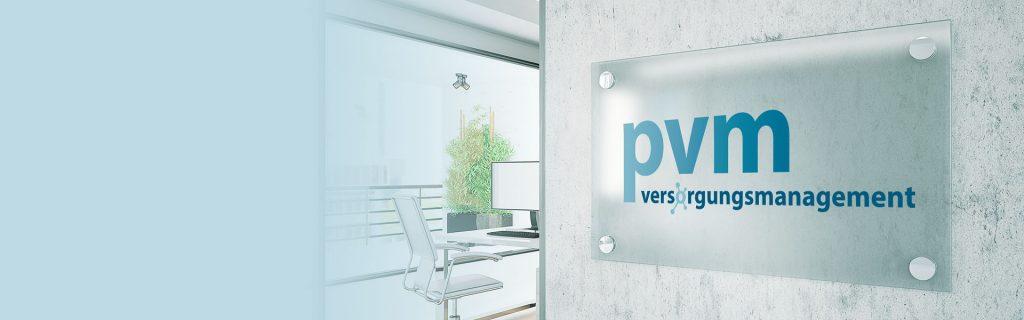 pvm versorgungsmanagement Blank Glass Nameplate sign